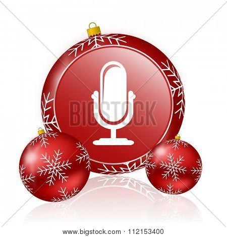 microphone christmas icon