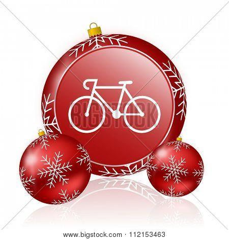 bicycle christmas icon