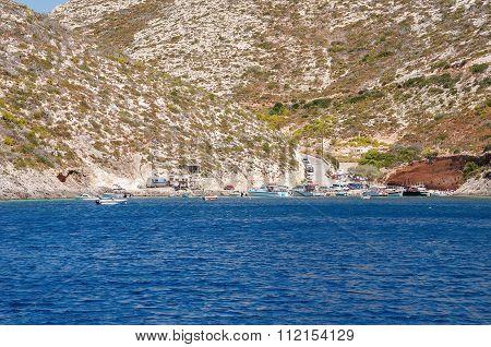 Porto Vromi, Small Port On Zakynthos Island