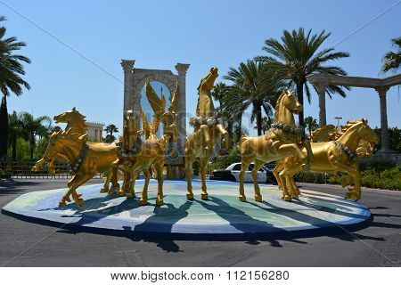 The Holy Land experience, Group of golden horses