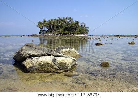 Small Island With Rocks