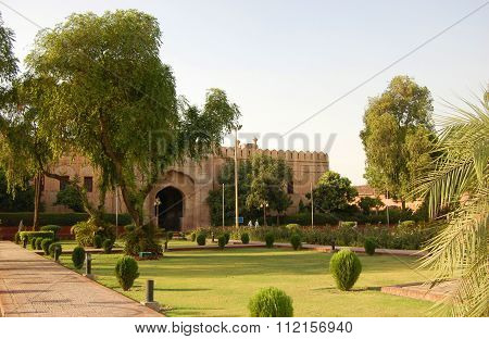 Lahore Fort in Old city Lahore, in Punjab, Pakistan. Lahore Fort is registered as a UNESCO World Heritage Site in 1981.