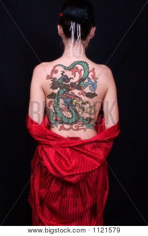 Asian Back Tattoo