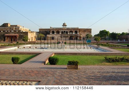 Lahore Fort in Old city Lahore in Punjab, Pakistan. Lahore Fort is registered as a UNESCO World Heritage Site in 1981.