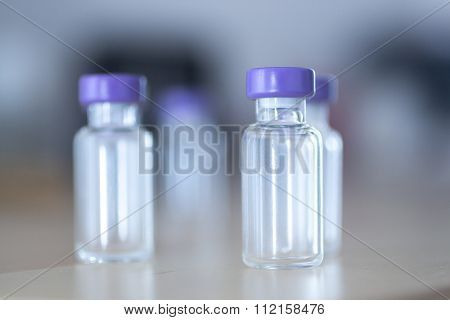 Phials Of Insulin Medication Bottles