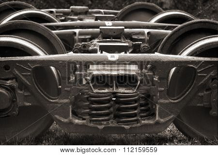 Old Spare Railway Wheels