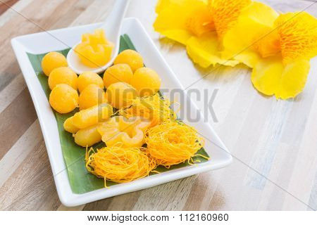 Thai Sweets, Or Khanom Thai Is Traditional Thai Sweets Both Flavor And Taste. It Offers The Original