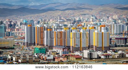 View Of Ulan Bator From Mountain Zaisan