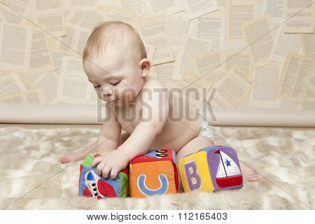 Baby Learning Alphabet