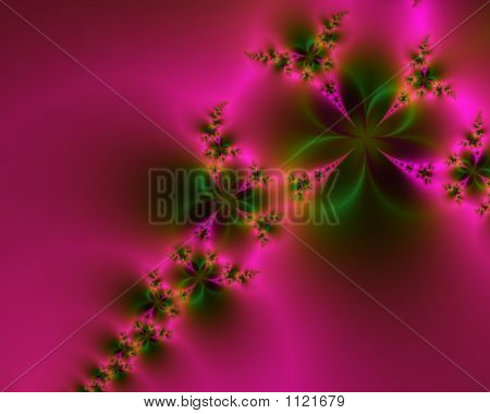 Romantic Pink And Green Abstract Background Fractal