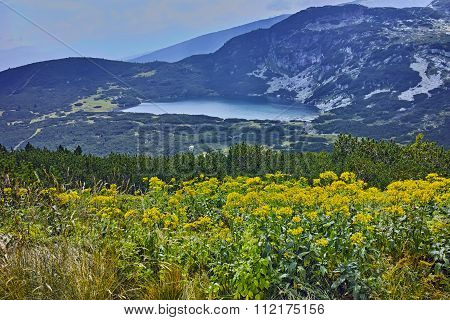 Panoramic view of The Lower Lake, Rila Mountain, The Seven Rila Lakes,