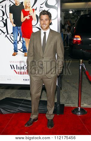 WESTWOOD, CALIFORNIA - September 19, 2011. Dave Annable at the Los Angeles premiere of