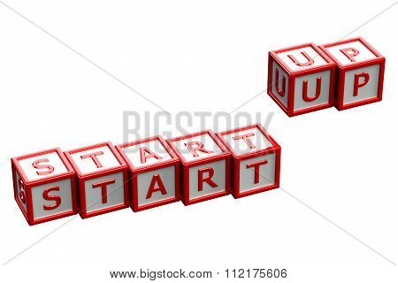 Start Up Blocks Isolated On White Background