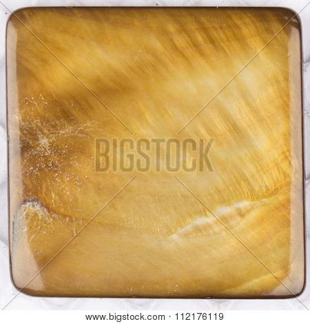 Beautiful Natural Nacreous Plate Ocher Brown