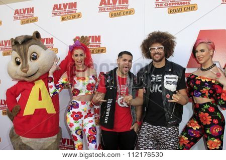 LOS ANGELES - DEC 12:  Redfoo, guests at the
