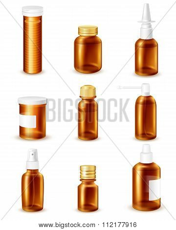 Pharmaceutical Bottles Set