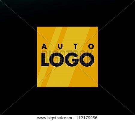 Auto company insignia template.