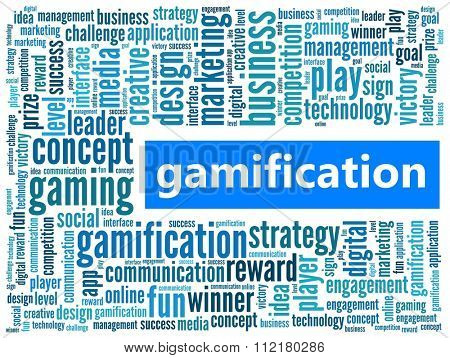 Gamification in word collage