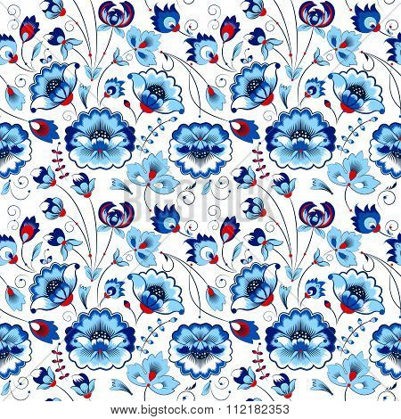 Floral Seamless Pattern In Country Style