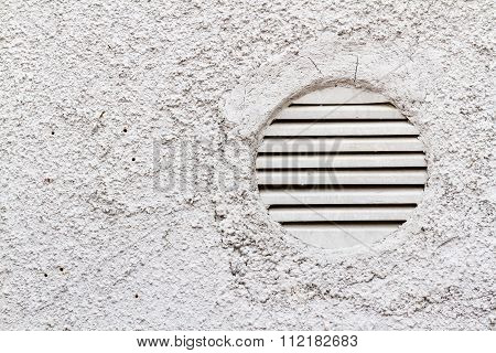 Detail Of White Wall With Ventilation Grilles