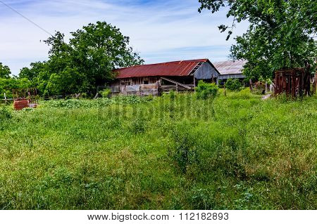 Old Texas Farm Building