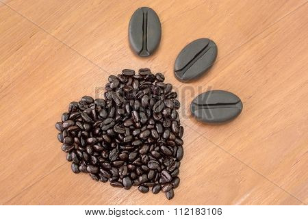 Fresh Coffee Seeds And Soap  Product From Coffee Seeds  Isolate On White Background