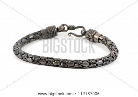 Silver Bracelet Over White