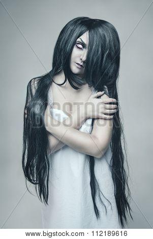 Mystical Ghost Beautiful Woman Portrait