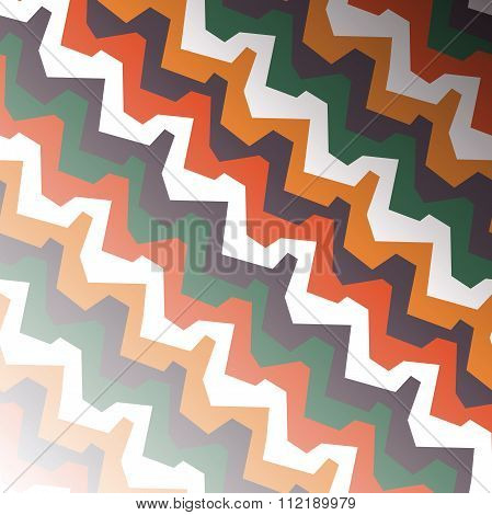 Zigzag Background In African Style