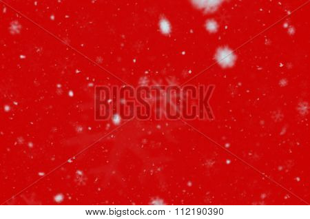 Snowy Red Background