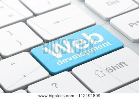 Web design concept: Web Development on computer keyboard background