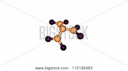 Trinitramide molecule isolated on white