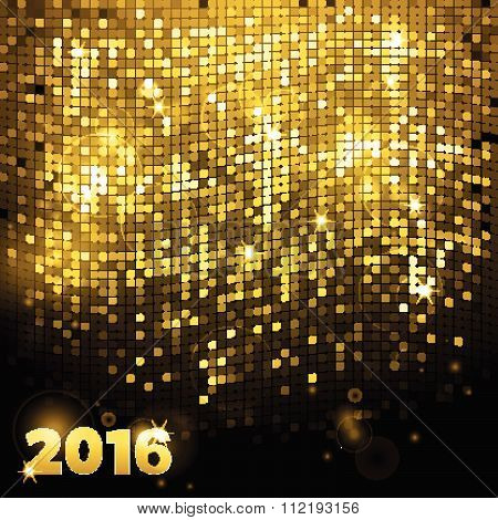 Sparkling Gold Mosaic 2016