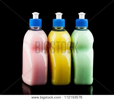 Three Colour Dishwashing Bottles