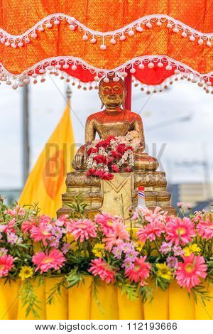 Buddha Statue For People Celebrate Songkran Festival