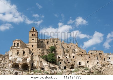 Craco ghost village. Basilicata. Italy.