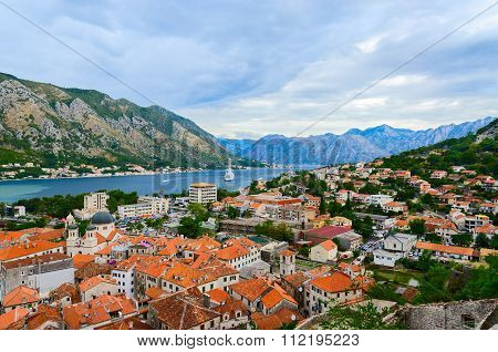 Top View Of The Kotor And Kotor Bay, Montenegro