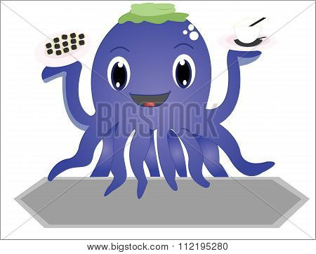 The funny octopus