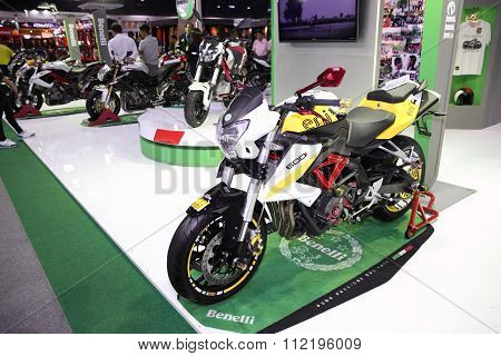 Bangkok - December 11 : Benelli Bn600 Motorcycle On Display At The Motor Expo 2015 On December 11, 2