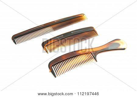 Three Plastic Hairbrush