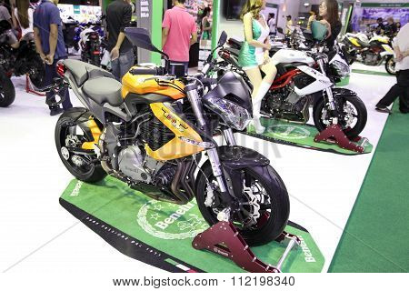 Bangkok - December 11 : Benelli Tnt 600  Motorcycle On Display At The Motor Expo 2015 On December 11