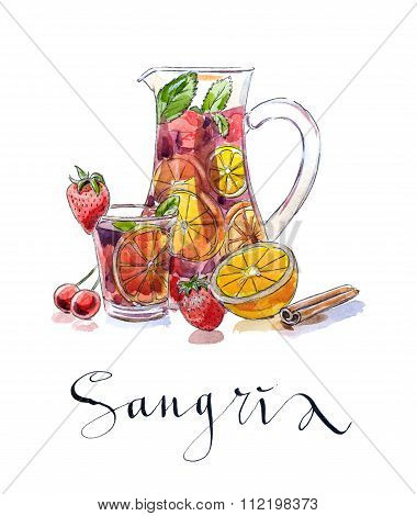 Refreshing Sangria (punch)