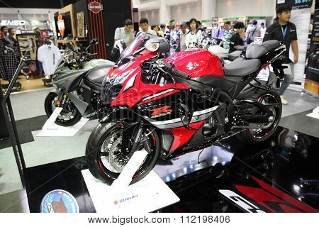 Bangkok - December 11 : Suzuki Gsx R  Motorcycle On Display At The Motor Expo 2015 On December 11, 2