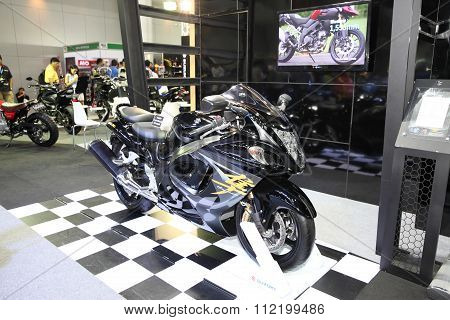 Bangkok - December 11 : Suzuki Hayabusa Motorcycle On Display At The Motor Expo 2015 On December 11,