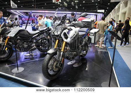 Bangkok - December 11 : Yamaha Super Tenere  Motorcycle On Display At The Motor Expo 2015 On Decembe