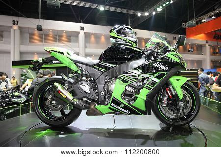 Bangkok - December 11 : Kawasaki Ninja Motorcycle On Display At The Motor Expo 2015 On December 11,