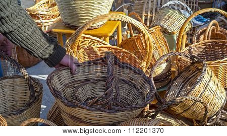 Handmade baskets.