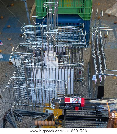 Objects for the barbecue in stainless steel and iron sale