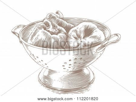 Peppers In The Colander