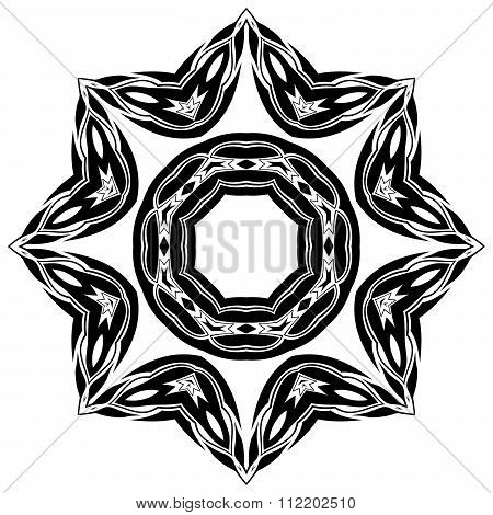 Black Symmetric Shape